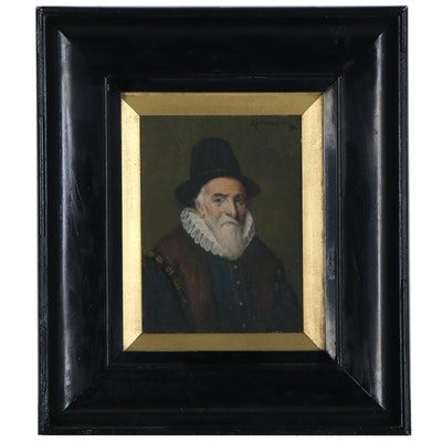 Oil Portrait of Dutch Gentleman, 19th Century
