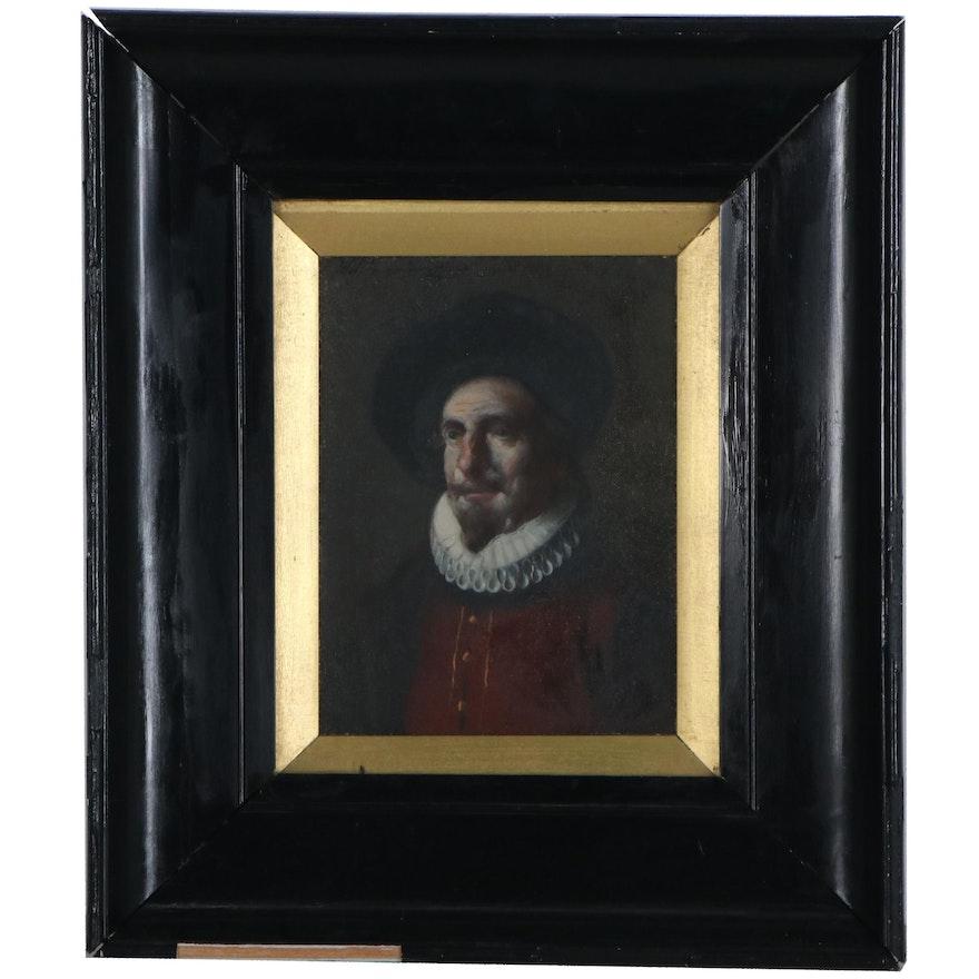 Oil Portrait of Dutch Gentleman, 19th Century