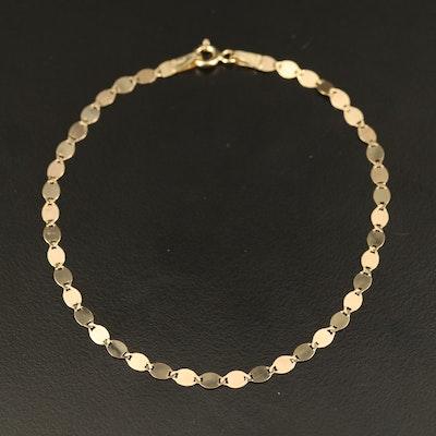 Italian 10K Fancy Link Bracelet