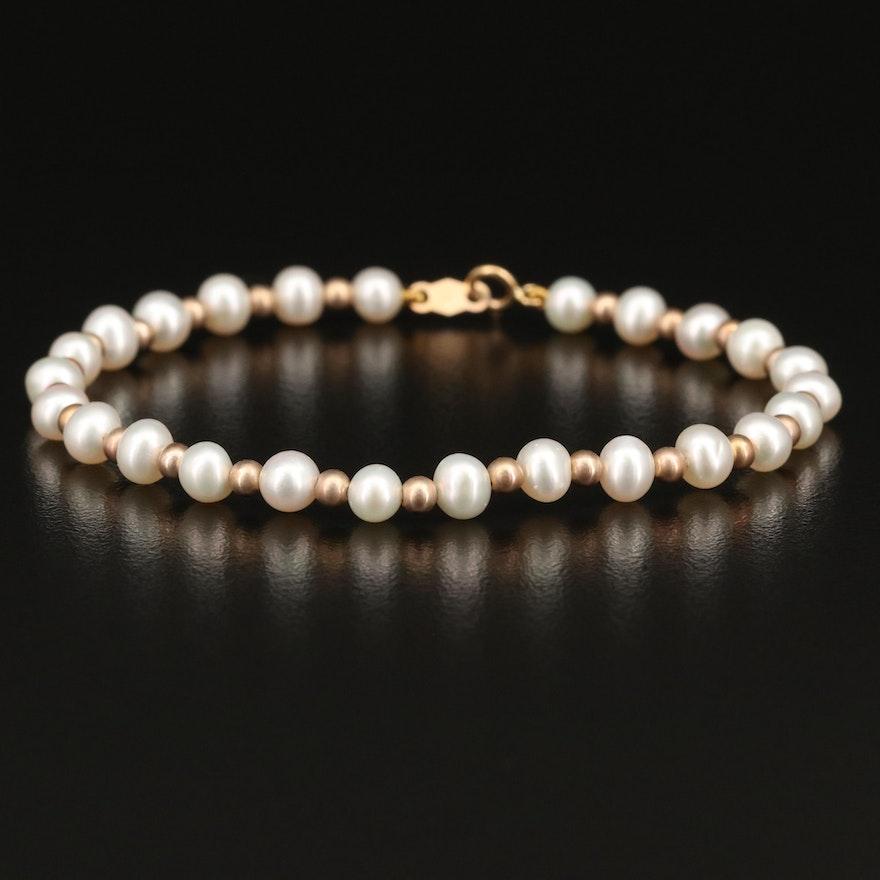 14K Pearl Strand Bracelet
