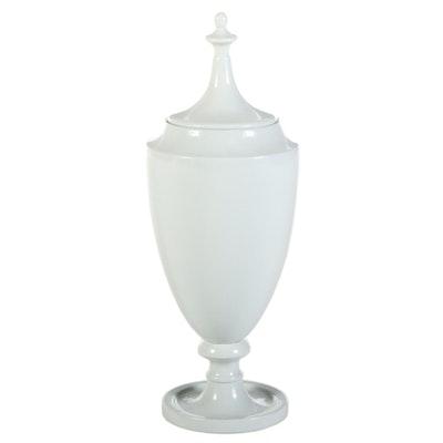 Global Views Pale Celadon Glazed Ceramic Decorative Floor Urn