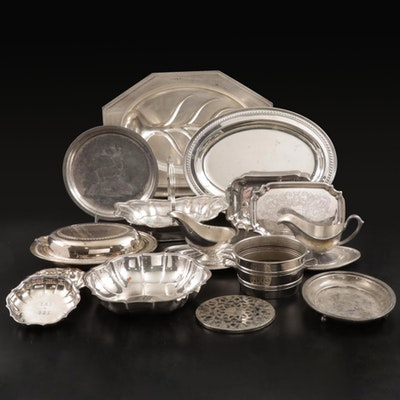 Reed & Barton, Wilcox, and Other Silver Plate Serveware, Early to Mid-20th C.