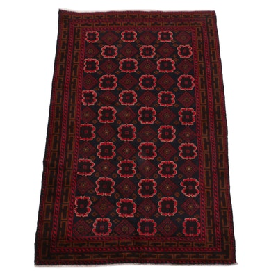 3'3 x 4'9 Hand-Knotted Afghan Baluch Accent Rug