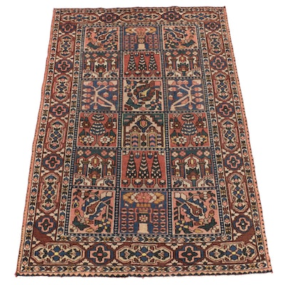 4'10 x 7'1 Hand-Knotted Pictorial Wool Area Rug