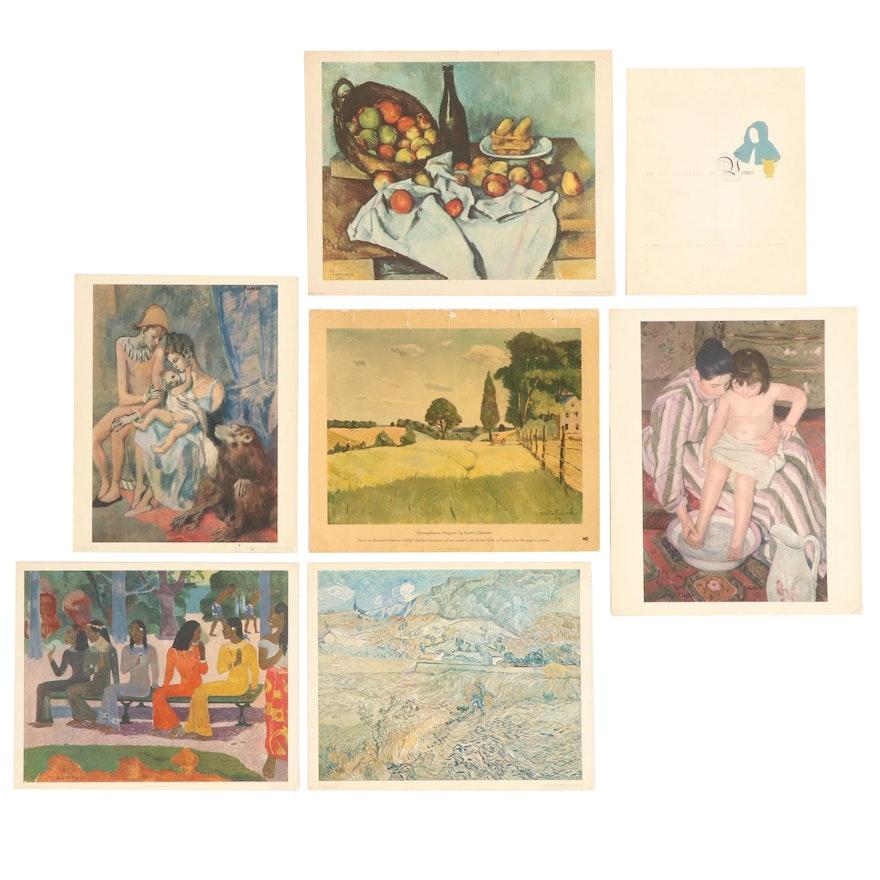 Offset Lithograph after Vermeer, Van Gogh, Cezanne, Cassatt, and More