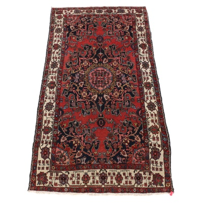 3'11 x 7'6 Hand-Knotted Persian Tafresh Wool Area Rug