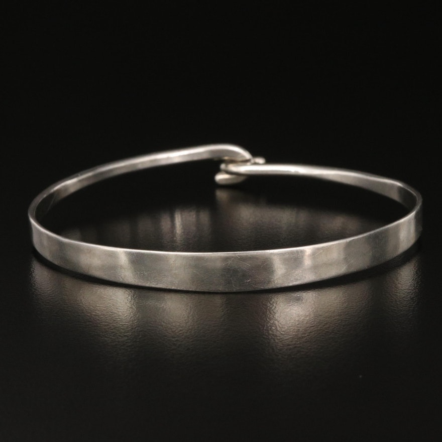 Ed Levin Sterling Silver Tapered Bangle