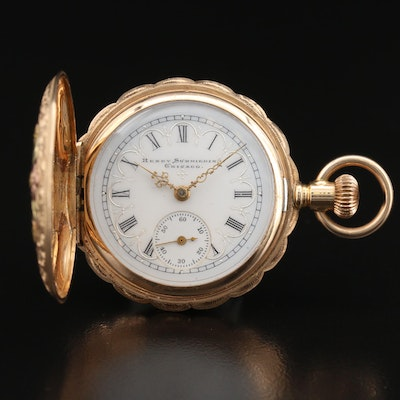 1899 Elgin for Henry Schmeiding 14K Tri-Color Gold Hunting Case Pocket Watch