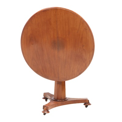 William IV Mahogany Tilt-Top Center Table, Mid-19th Century