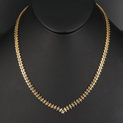 Milor Sterling Riccio Chain Necklace