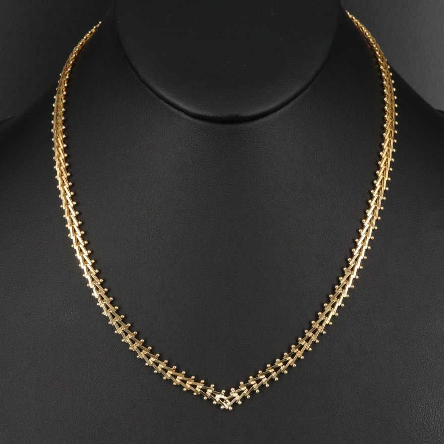 Italian Milor Sterling Riccio Chain Necklace