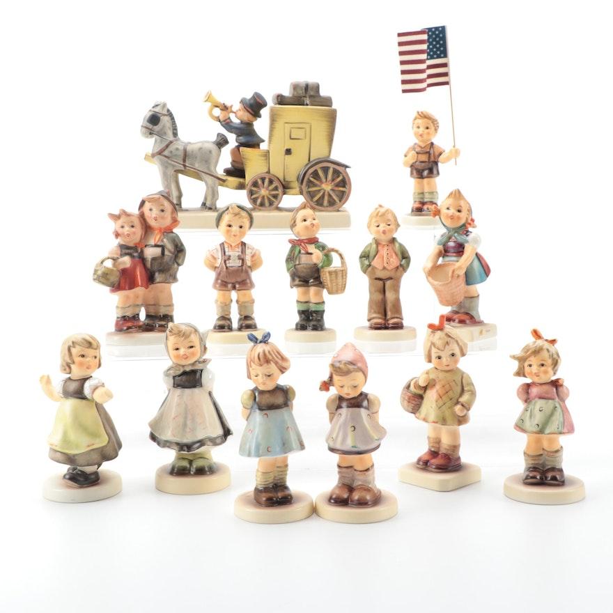 """Goebel Hummel Porcelain Figurines Including """"Free Spirit"""" and """"Little Helper"""""""