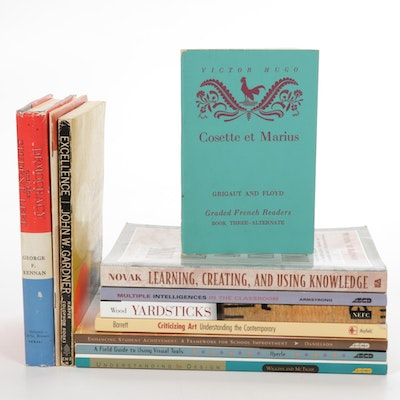 Education, French Language Reader, Philosophy, and Art Books, 20th Century