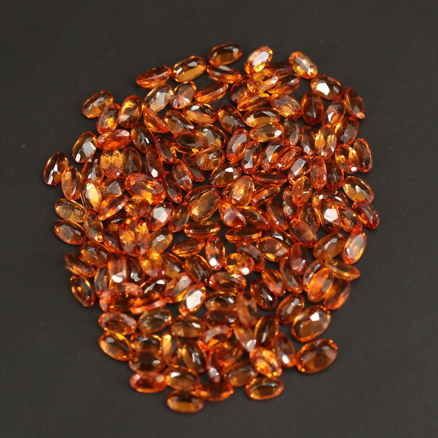 Loose 45.61 CTW Oval Faceted Garnets