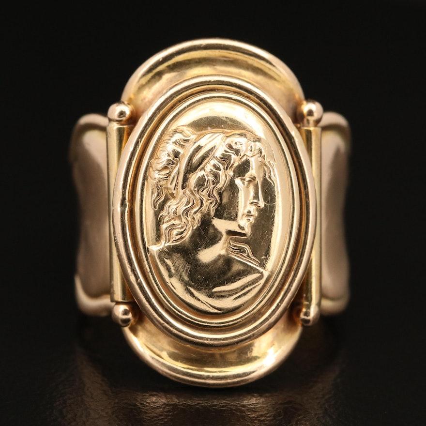 14K Cameo Ring