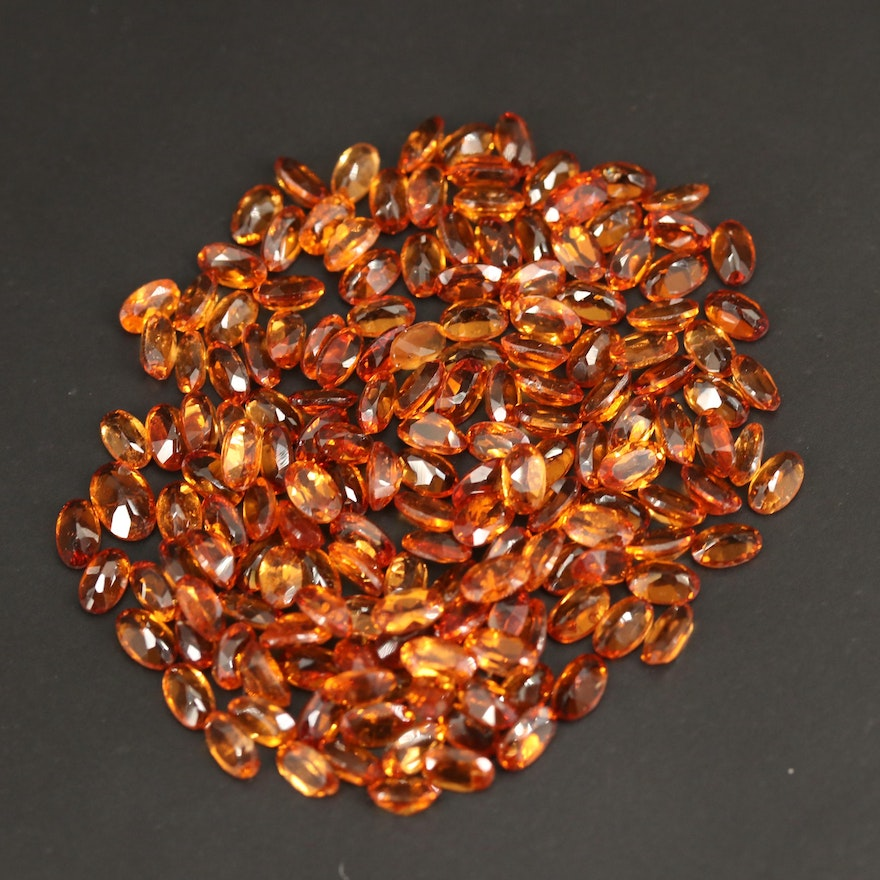 Loose 48.19 CTW Oval Faceted Garnets