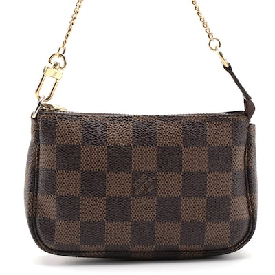 Louis Vuitton Mini Pochette Accessory in Damier Ebene Canvas