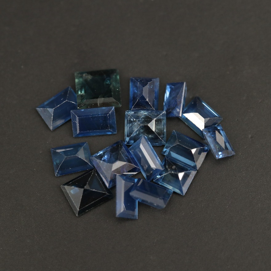 Loose 7.11 CTW Faceted Sapphires
