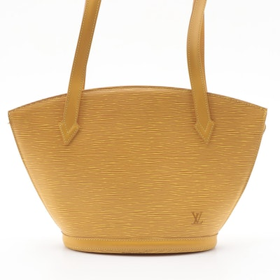 Louis Vuitton St. Jacques PM Bag in Tassil Yellow Epi and Smooth Leather