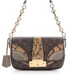 Louis Vuitton Monogramissime Pochette Handbag in Coated Canvas and Exotics