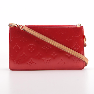 Louis Vuitton Lexington Pochette in Red Monogram Vernis with Crossbody Strap