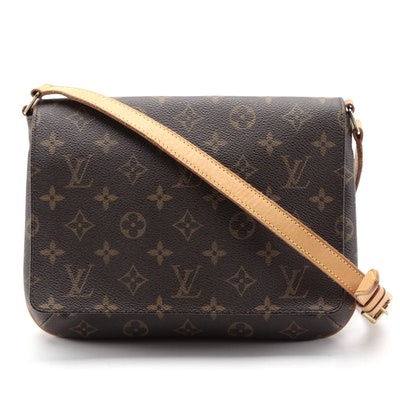 Louis Vuitton Musette Tango Flap Bag in Monogram Canvas