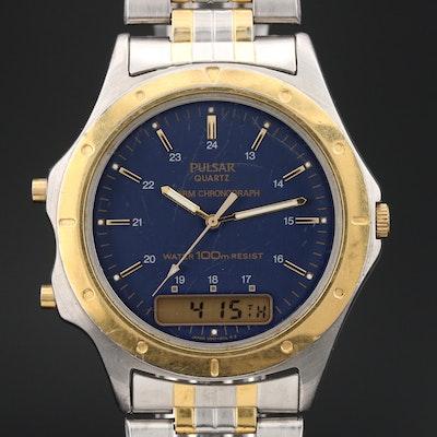 Pulsar Two-Tone Digi-Ana Wristwatch