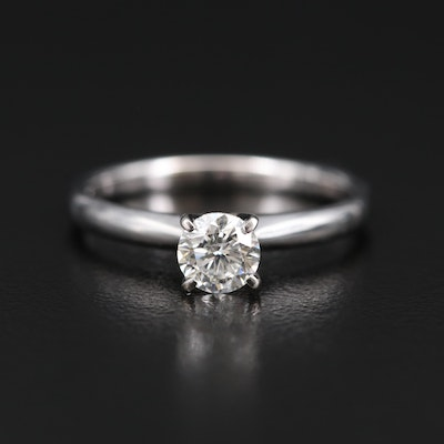 14K 0.51 CT Diamond Solitaire Ring with GIA Report