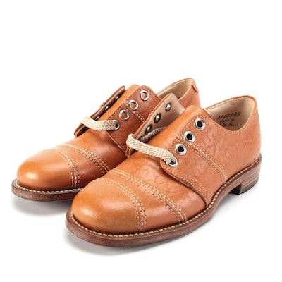 Children's Foot Traits Leather Lace-Up Shoes with Box