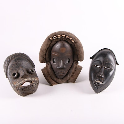 Dan Style Wood Masks, West Africa