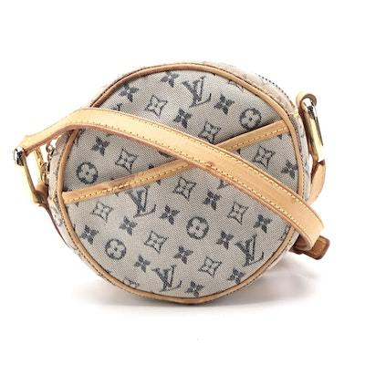 Louis Vuitton Jeanne Mini Crossbody Bag in Monogram Mini Lin Canvas and Leather