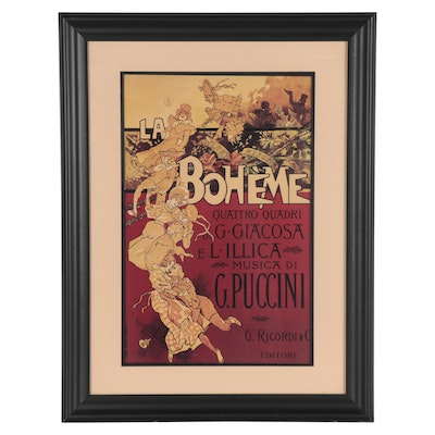 "Offset Lithograph after Adolfo Hohenstein ""La Bohème,"" Late 20th Century"