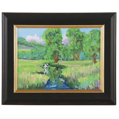 Kenneth R. Burnside Landscape Oil Painting