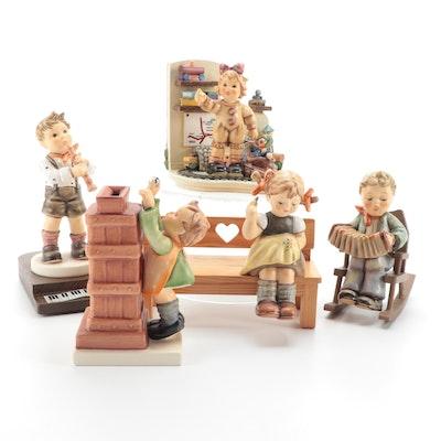 "Goebel Hummel Porcelain Figurines Including ""Cheerful Tune"" and ""Nimble Fingers"""