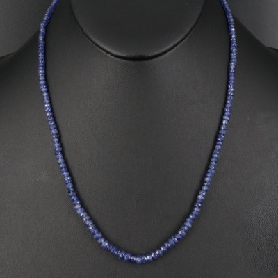 Sapphire Graduated Bead Necklace