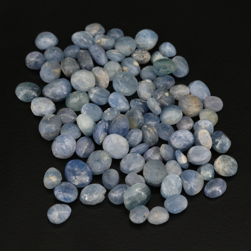Loose 135.93 CTW Oval and Round Corundum Cabochons