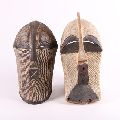 Songye Style Wood Masks, Central Africa