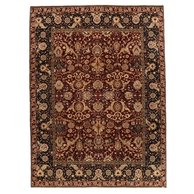 9' x 12'1 Hand-Knotted Pakistani Persian Tabriz Room Sized Rug, 2000s