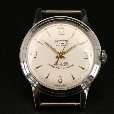 Vintage Effem Stainless Steel Automatic Wristwatch