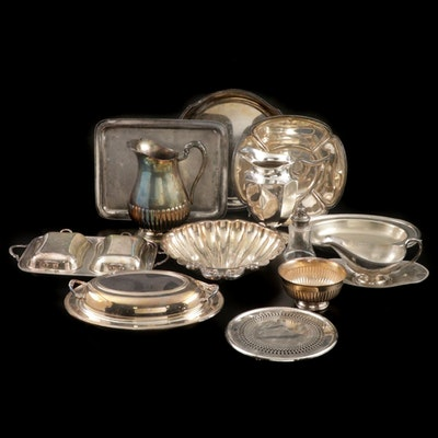 Webster, Fisher, and Other Silver Plate Serveware, Mid to Late Century