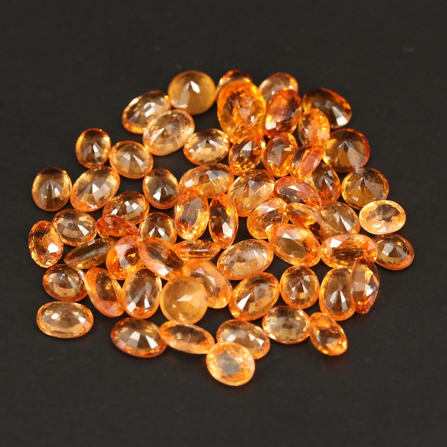 Loose 32.38 CTW Faceted Garnets