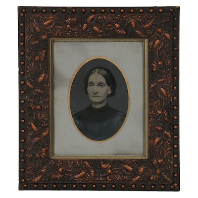 Tintype Portrait of a Woman, Mid and Late 19th Century