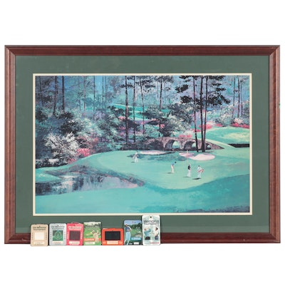 Offset Lithograph of a Golf Course