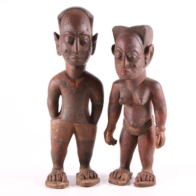 West African Style Wood Figures