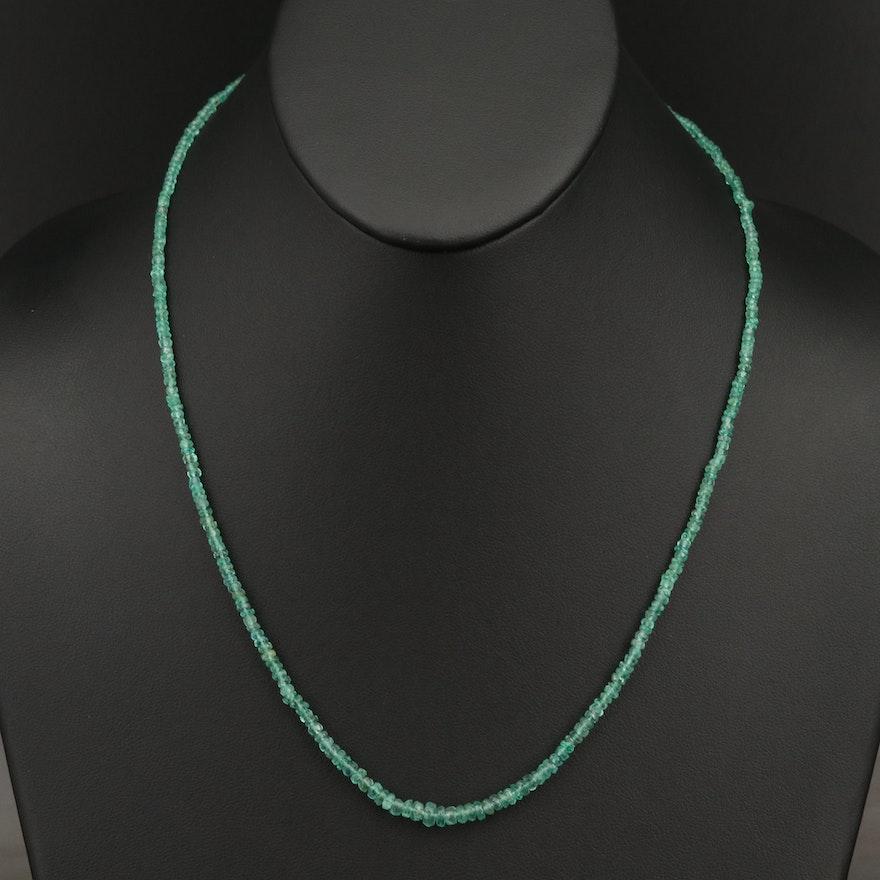 Graduated Emerald Necklace