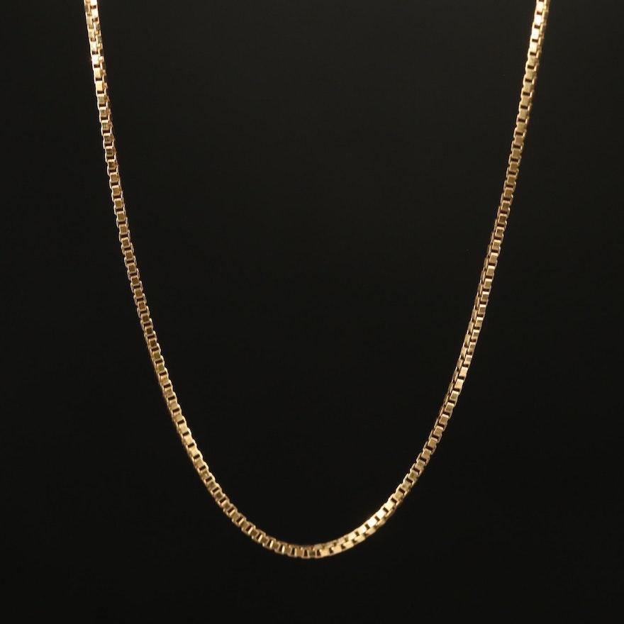 18K Box Chain Necklace