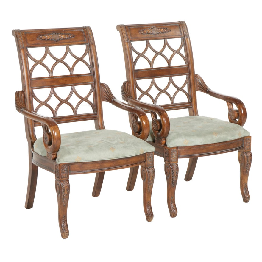 "Pair of Drexel-Heritage ""Talavera"" Open Armchairs, Late 20th Century"