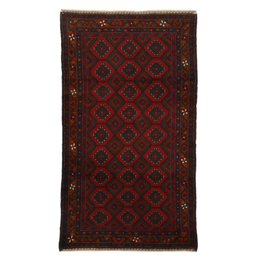 3'7 x 6'5 Hand-Knotted Persian Baluch Rug, 2000s
