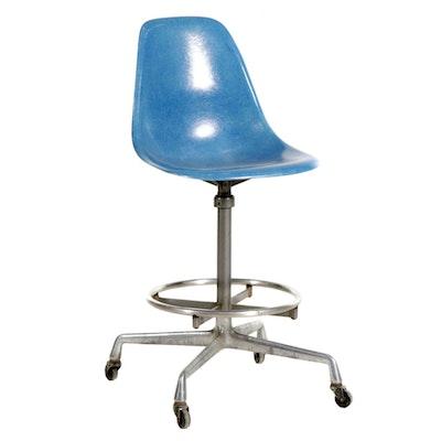 Eames for Herman Miller Mid Century Modern Fiberglass Draftsman's Chair