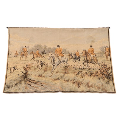 Machine Woven Tapestry of a Hunting Scene, Early to Mid-20th Century